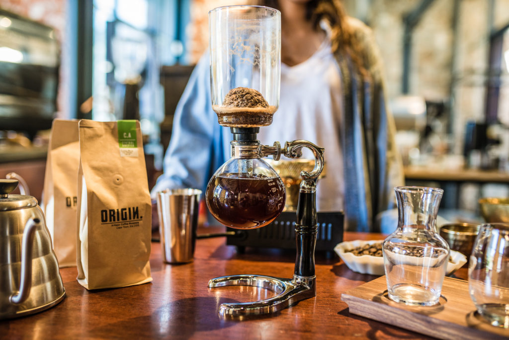 Siphon Coffee Extracted