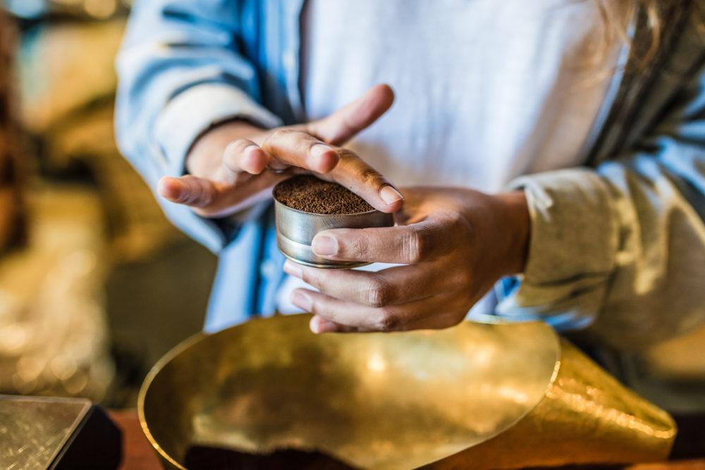 Filling Moka Pot basket